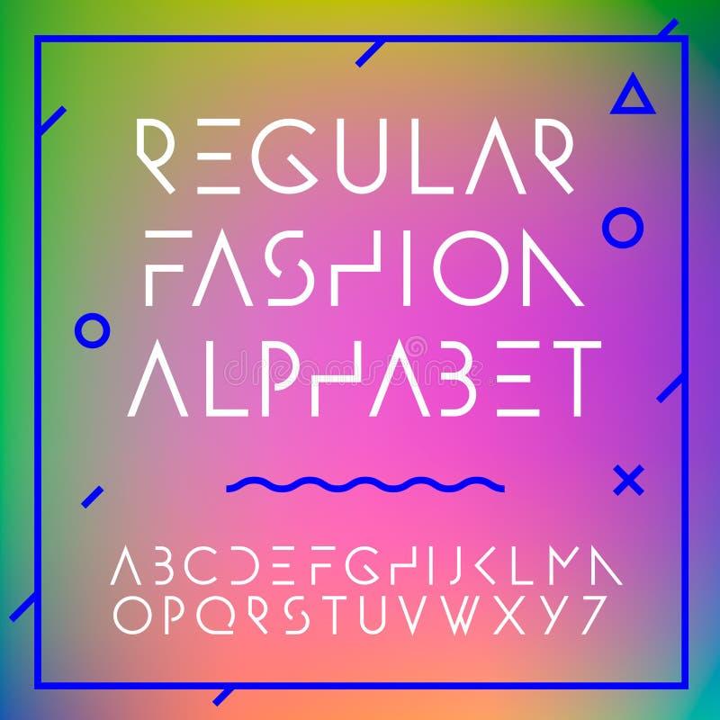 时尚字母表在汇集上写字 向量例证