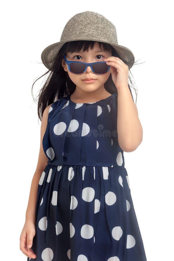 时尚小女孩 免版税库存照片