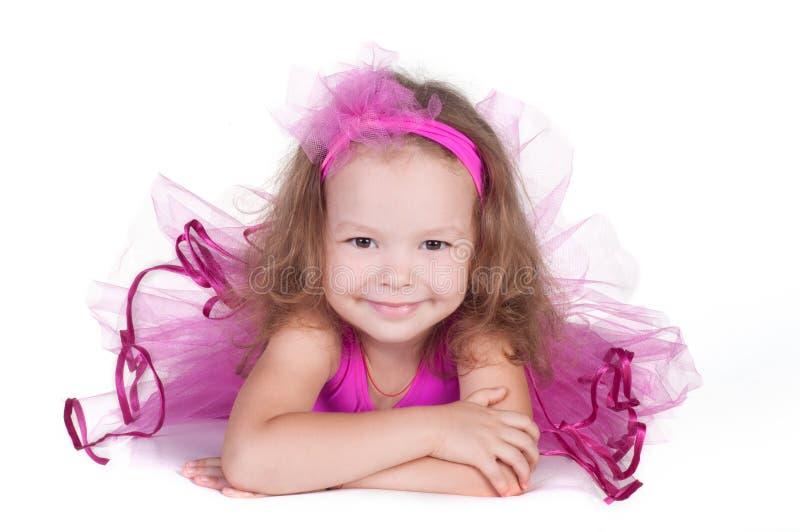 时尚小的公主女孩画象 库存图片