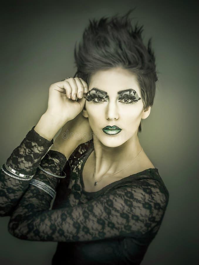时尚构成化妆用品模型 免版税库存图片