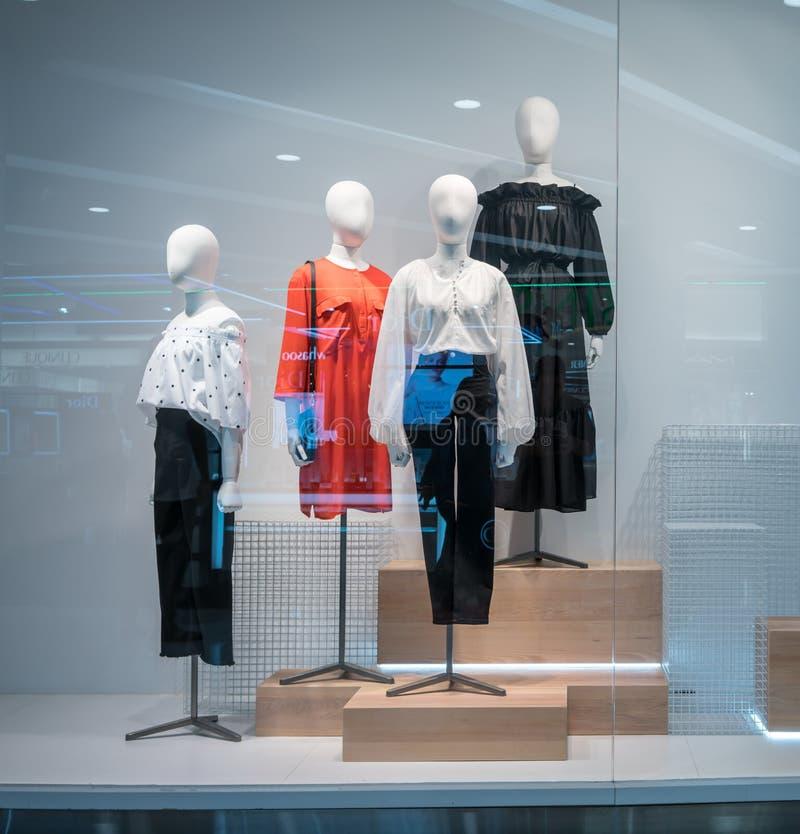 时尚海岛的,曼谷,泰国, 2018年3月22日H&M商店 免版税库存照片