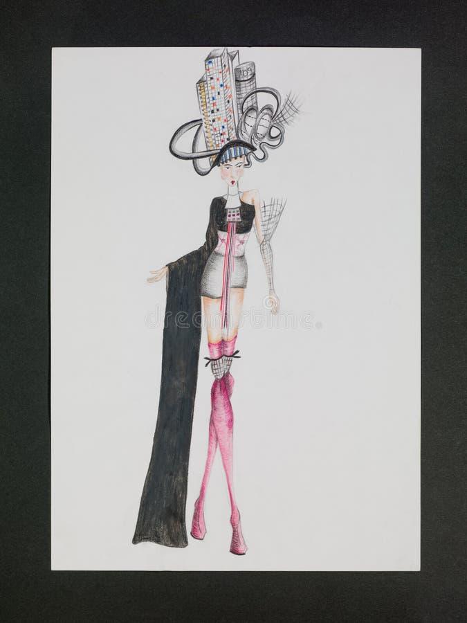 时尚设计 皇族释放例证