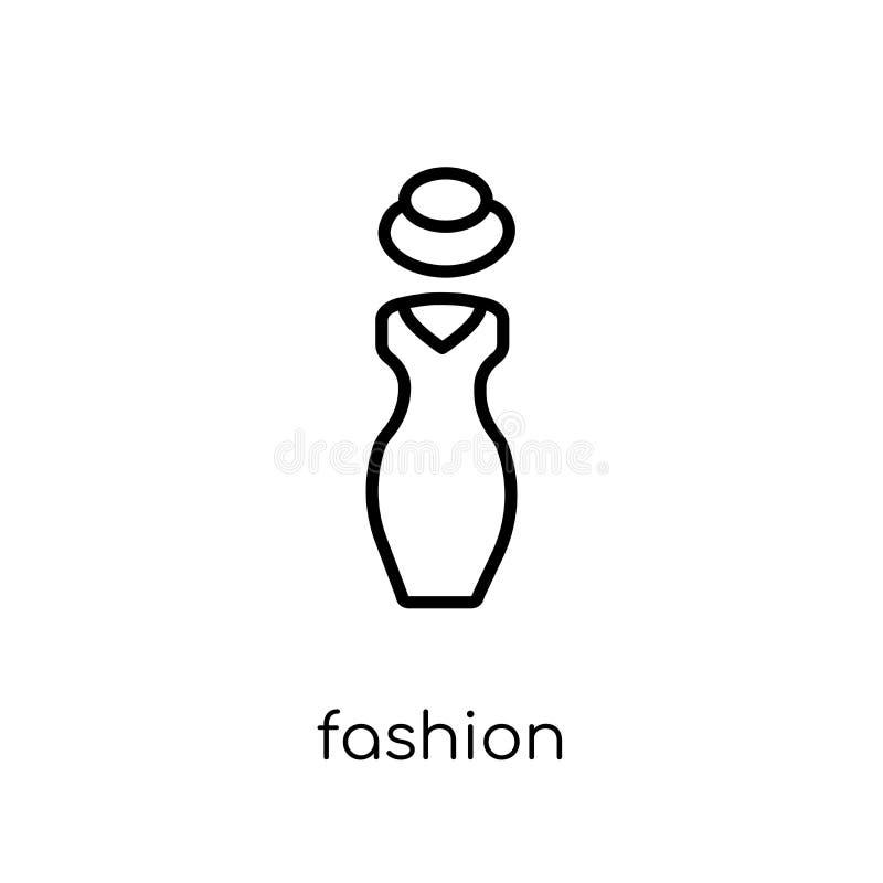 时尚象 在w的时髦现代平的线性传染媒介时尚象 皇族释放例证
