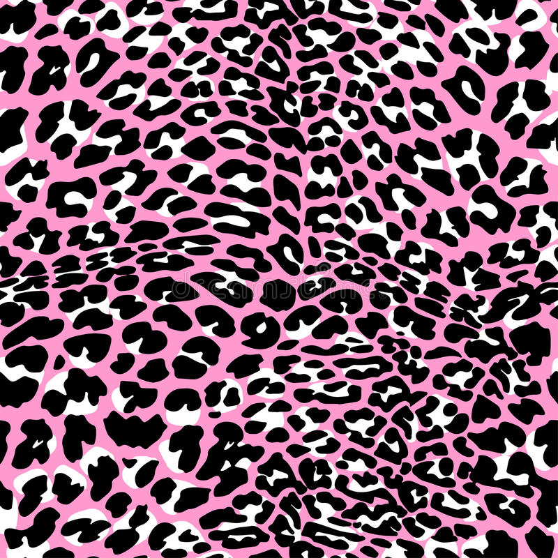 时尚豹子异乎寻常的无缝的样式 皇族释放例证