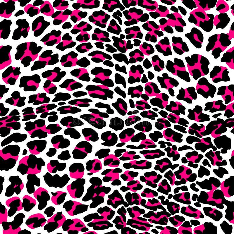 时尚豹子异乎寻常的无缝的样式 向量例证