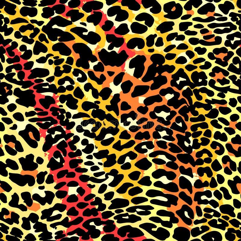 时尚豹子异乎寻常的无缝的样式 库存例证