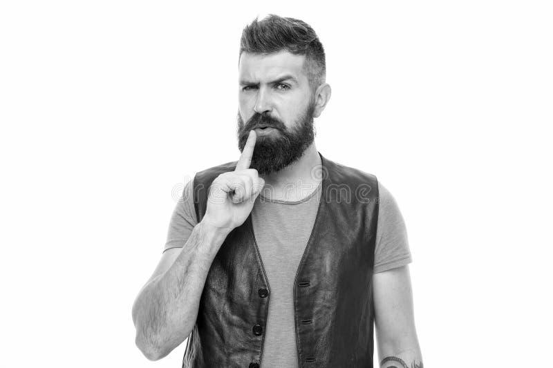 时尚趋向胡子修饰 面毛治疗 阳刚之气残酷和秀丽 有胡子残酷人的行家 免版税库存图片