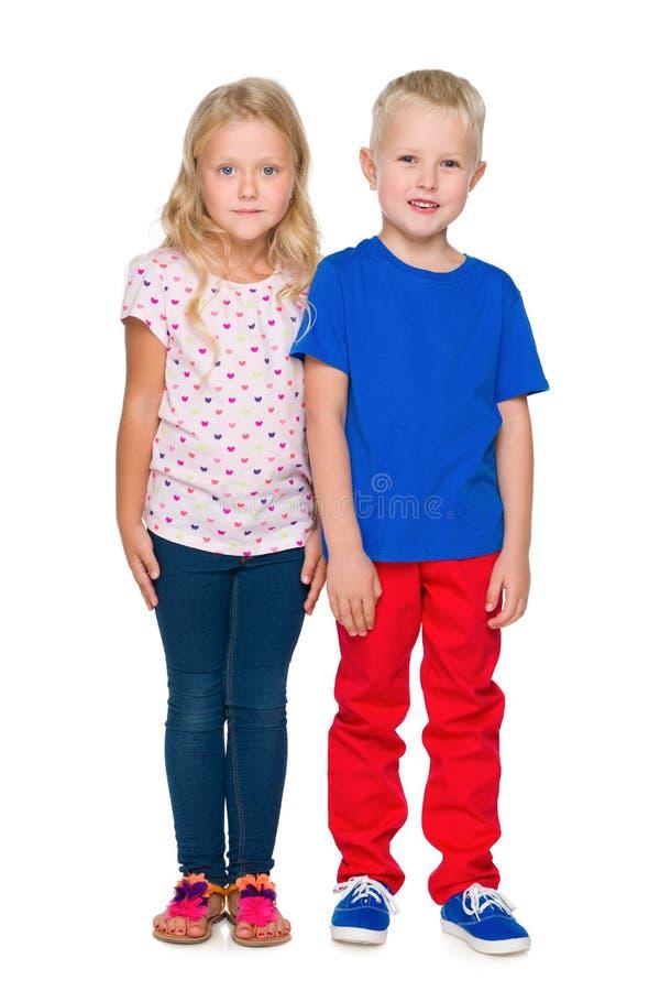 时尚金发碧眼的女人孩子 库存照片