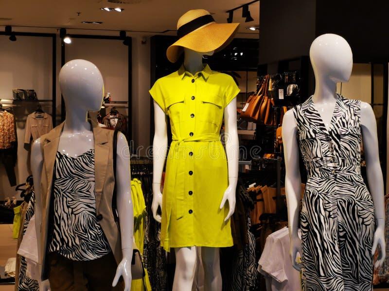 时尚钝汉-妇女的季节性衣物 免版税库存照片