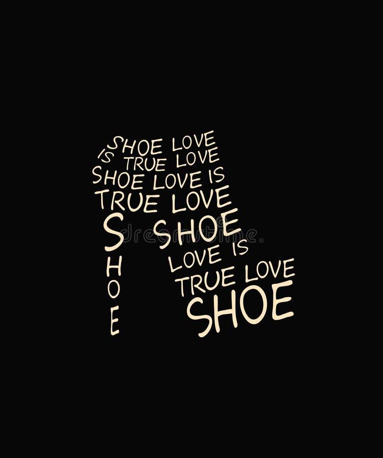 时尚从行情的妇女鞋子 向量例证