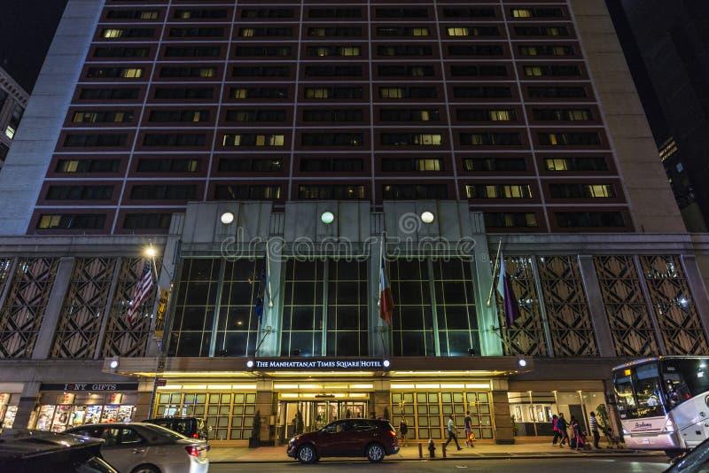 时常曼哈顿方形的旅馆在纽约,美国 免版税图库摄影