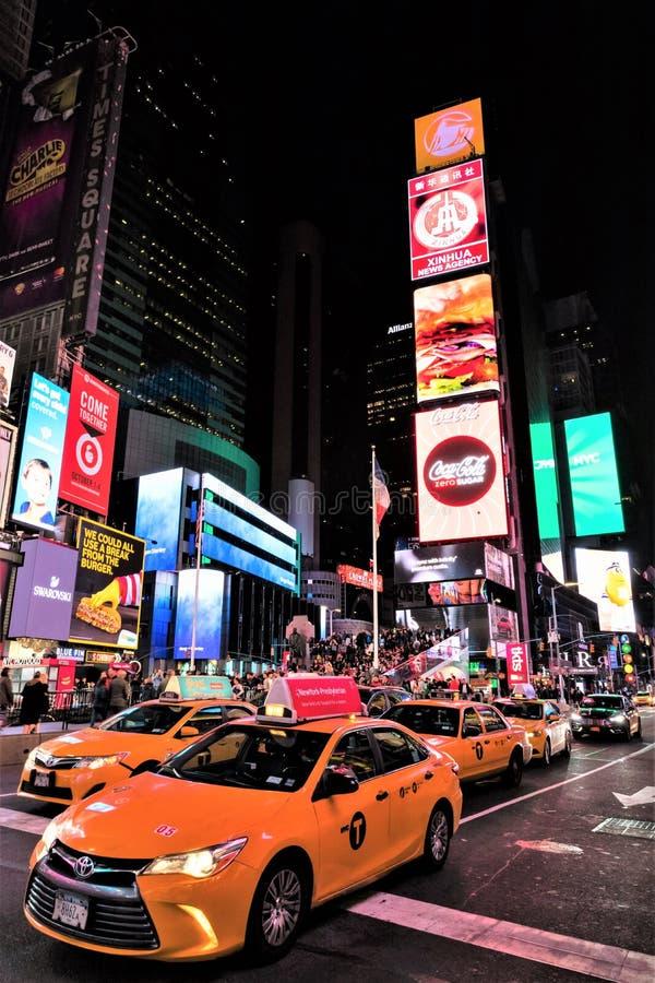 时报广场在曼哈顿,纽约,美国 库存照片
