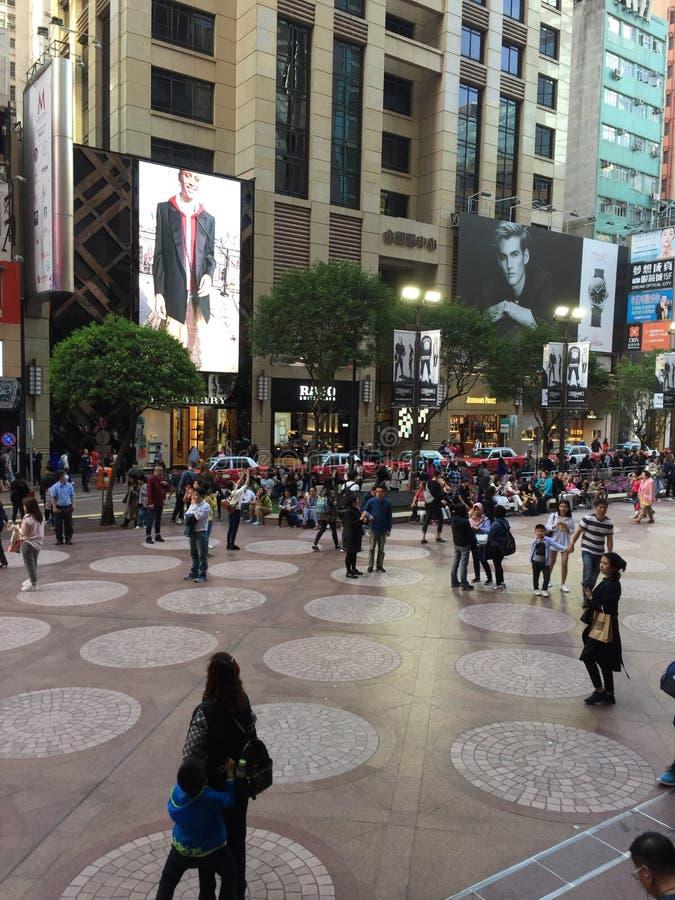 时报广场购物中心-香港街道生活 免版税库存照片