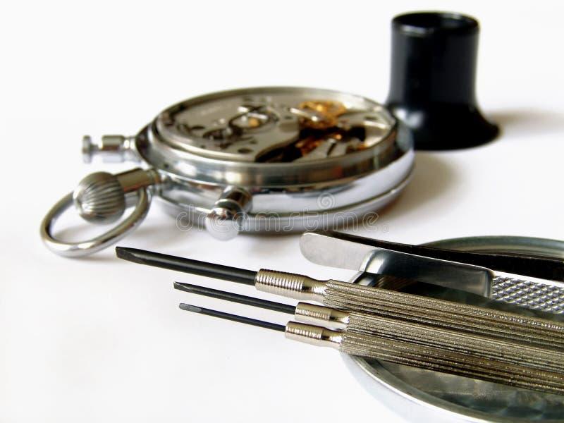 时数机械维修服务 库存照片