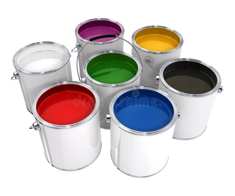 时段油漆 向量例证