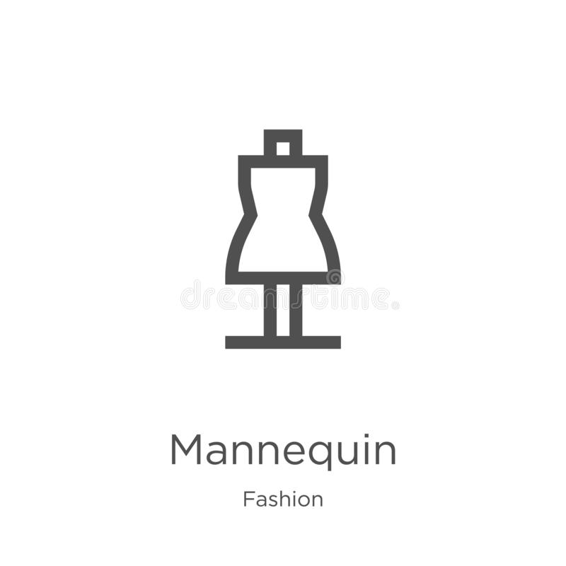 时装模特从时尚汇集的象传染媒介 稀薄的线时装模特概述象传染媒介例证 概述,稀薄的线时装模特 皇族释放例证