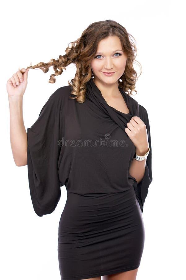 时装模特儿摆在 免版税库存照片