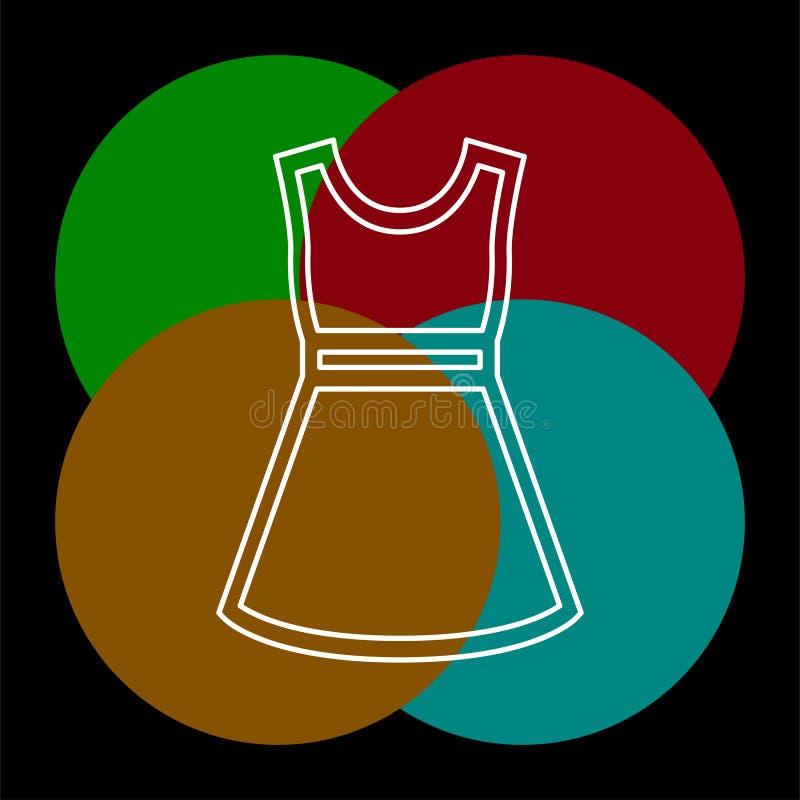 时装模特儿标志,传染媒介偶然妇女礼服 库存例证