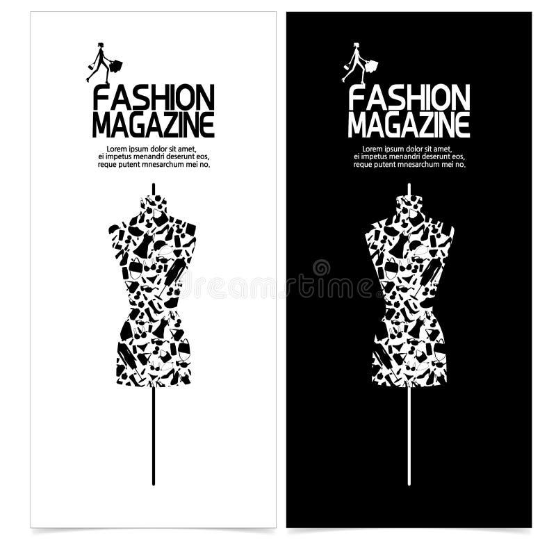 时装模特时尚剪影 向量例证