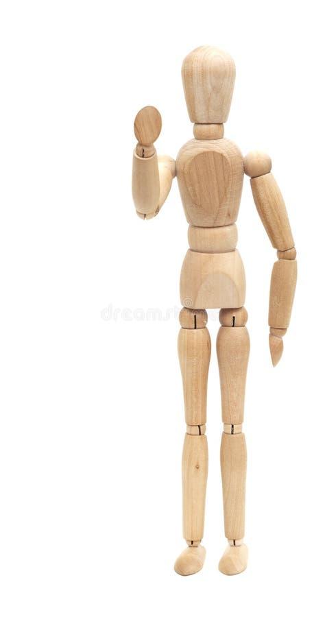 时装模特欢迎木 免版税库存图片