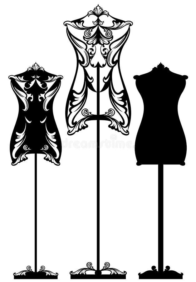 时装模特设计 皇族释放例证