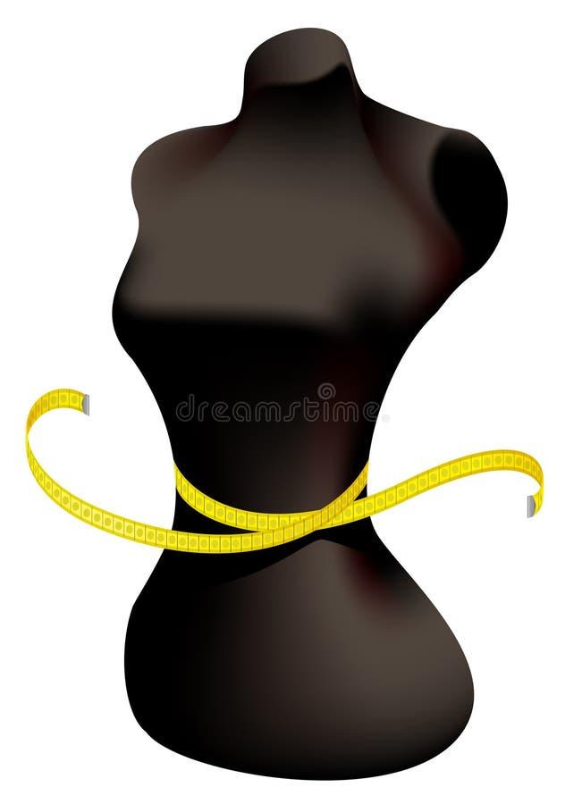 时装模特评定的磁带 皇族释放例证
