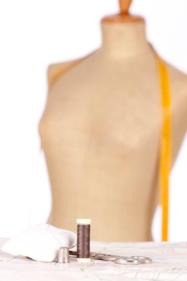 时装模特评定磁带泰勒 免版税库存图片