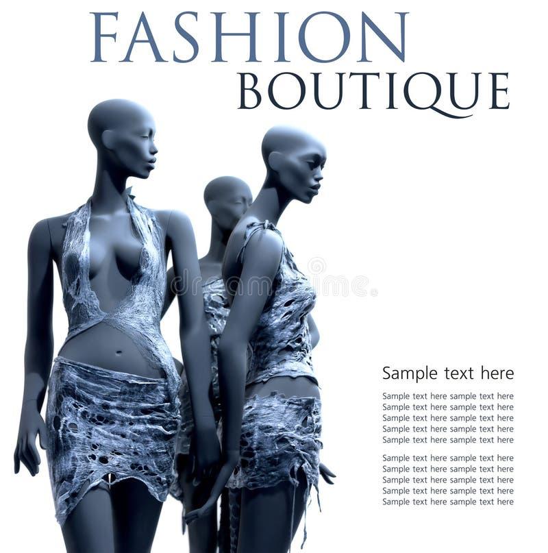 时装模特 向量例证