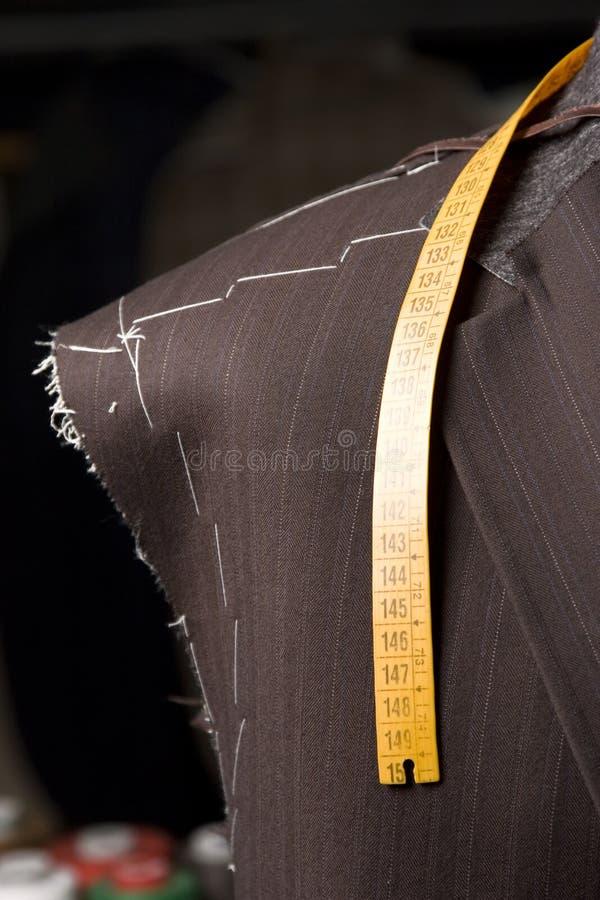 时装模特progres裁缝工作 库存照片