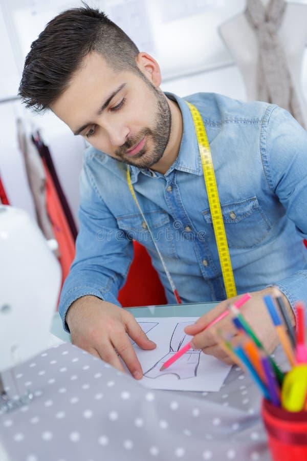 时装设计师略图服装概念 免版税库存照片