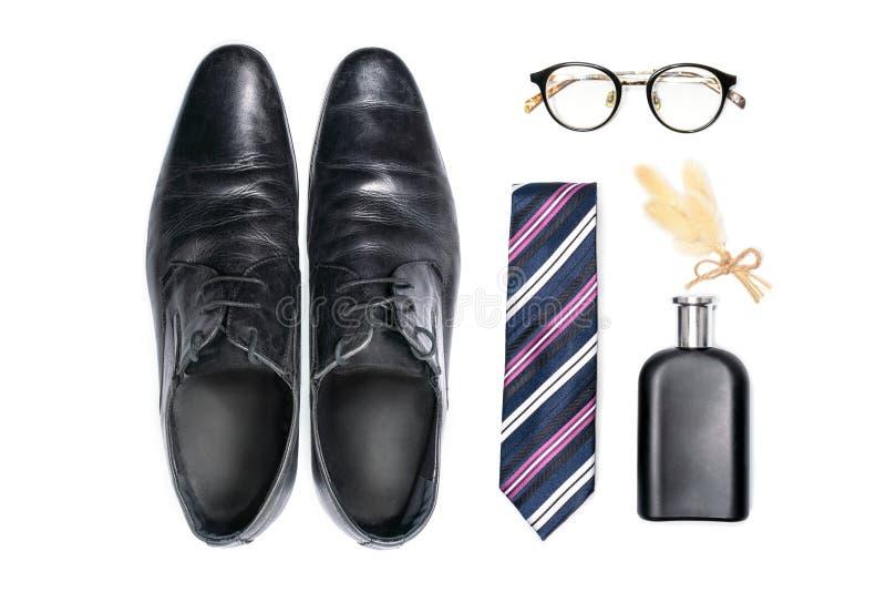 时装配件顶视图绅士的 免版税库存图片