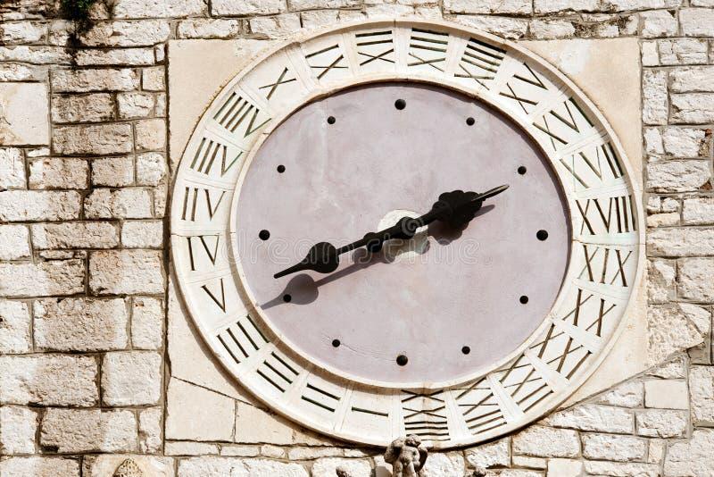 时钟中世纪老 免版税库存图片