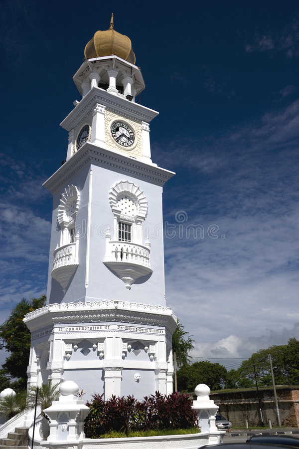 时钟乔治遗产塔城镇 免版税库存图片