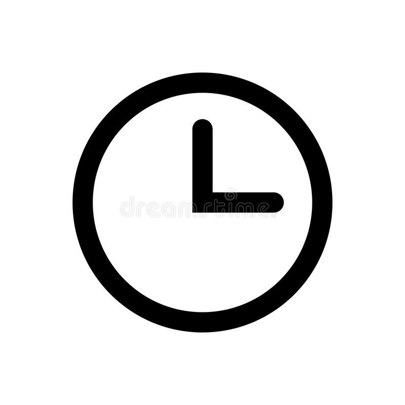 时钟传染媒介象 库存例证