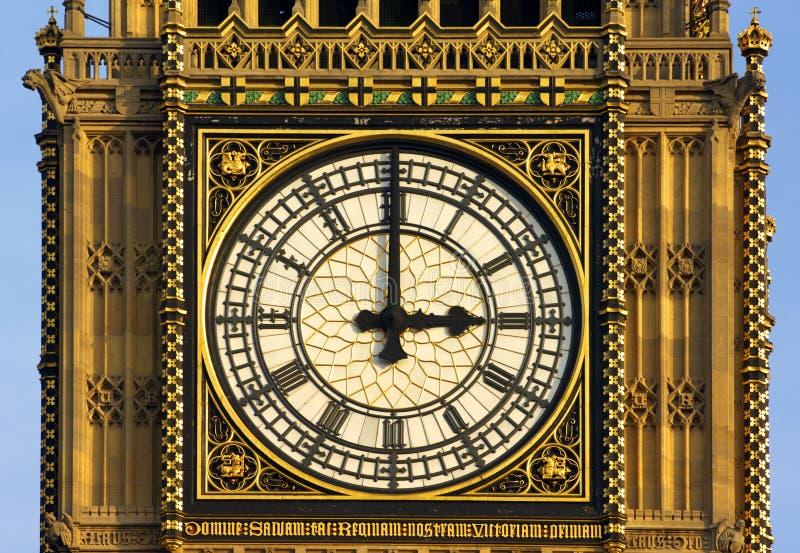 时钟伦敦议会耸立 库存图片