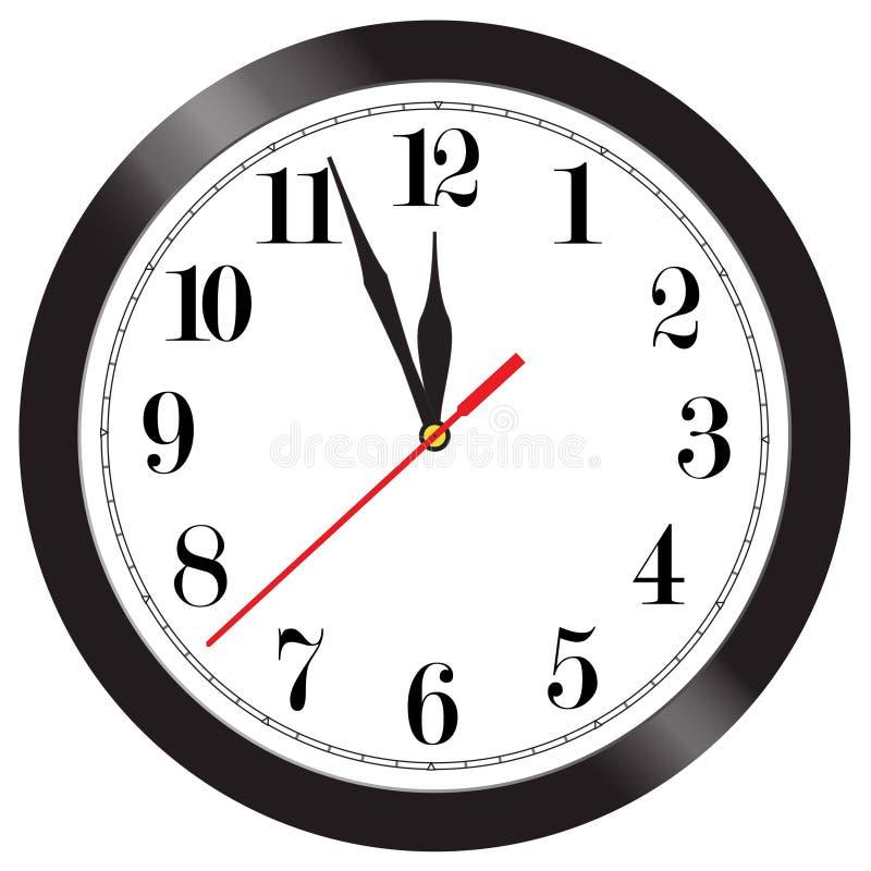 时钟例证墙壁 库存例证