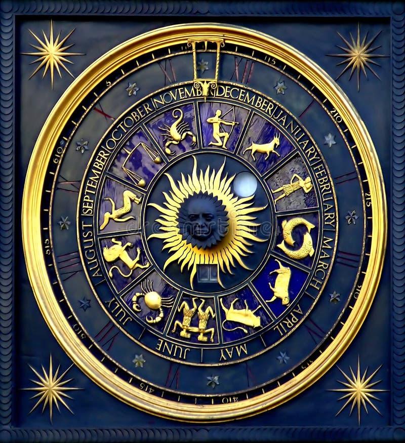 时钟占星 免版税库存照片