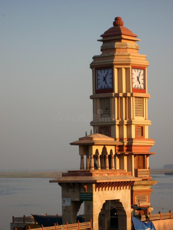 时钟印地安人塔 库存照片