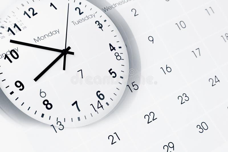 时钟和日历 免版税库存照片