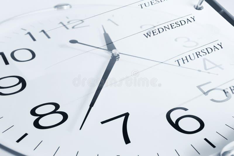 时钟和星期日 库存图片