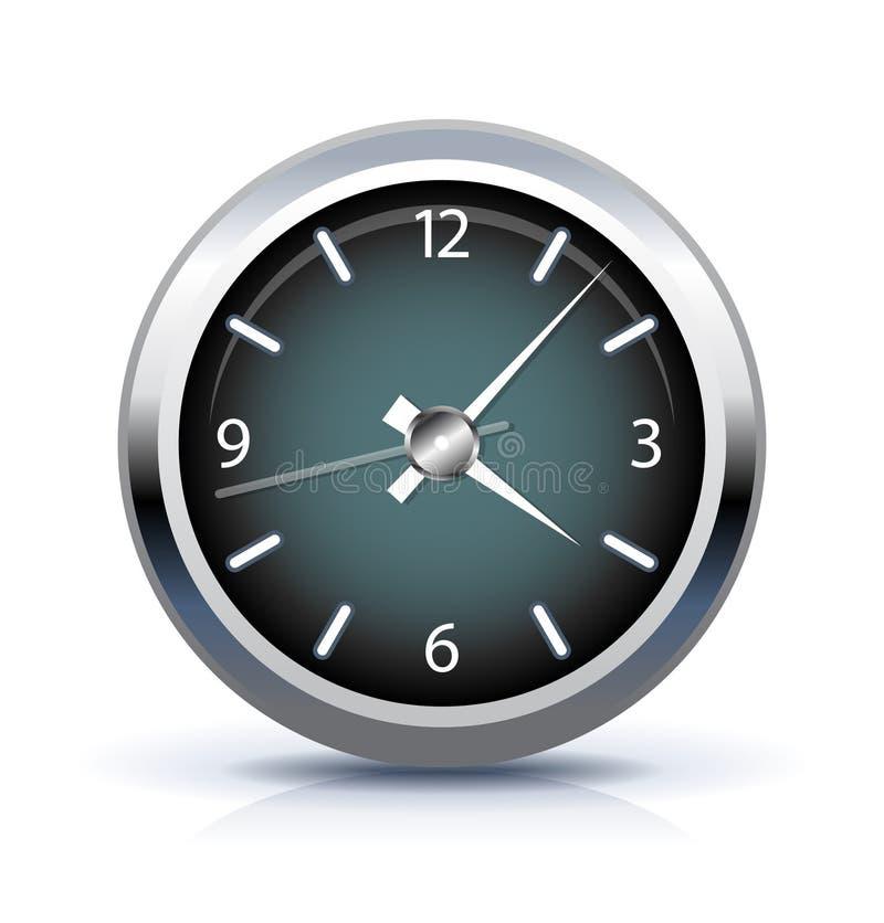 时钟图标办公室 向量例证
