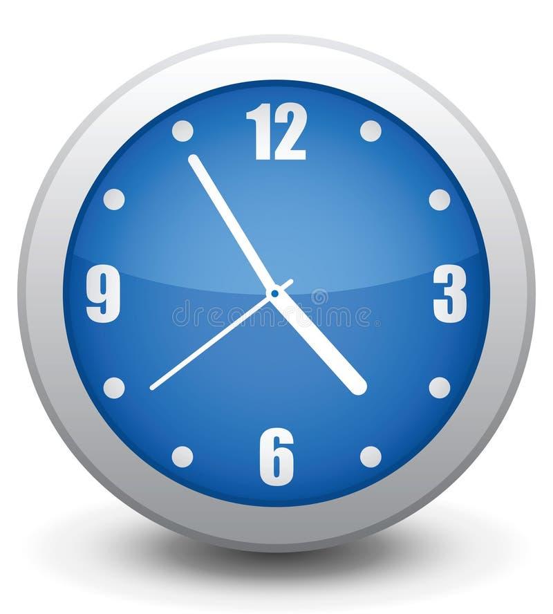 时钟图标墙壁 皇族释放例证
