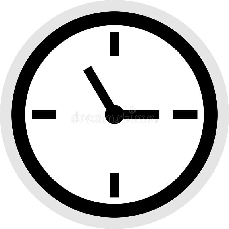 时钟图标 向量例证