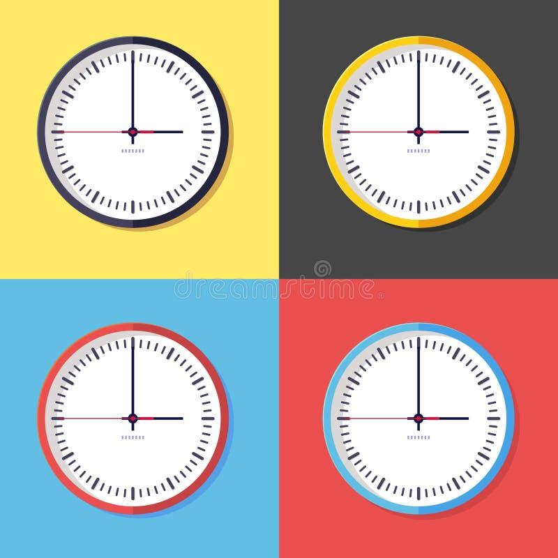 时钟图标 免版税库存照片