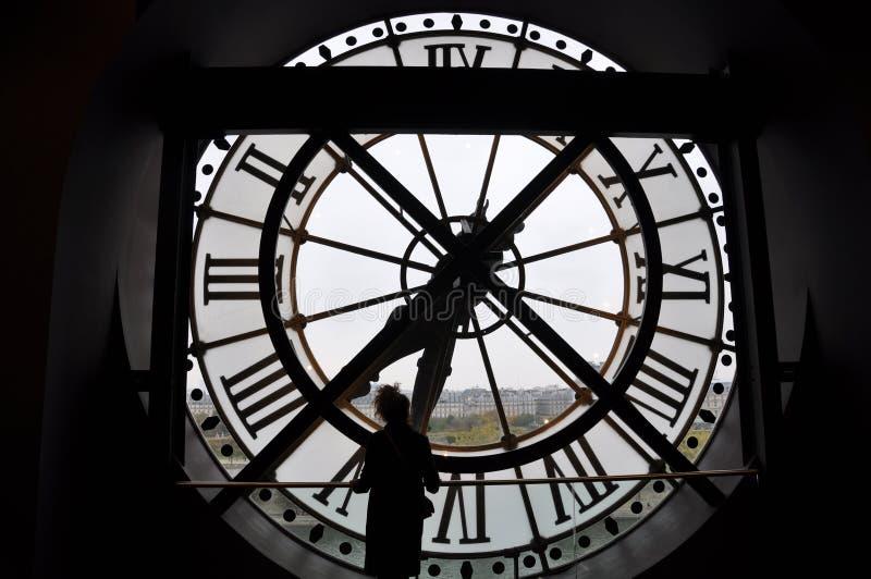 时钟在奥赛博物馆-巴黎,法国 免版税库存照片
