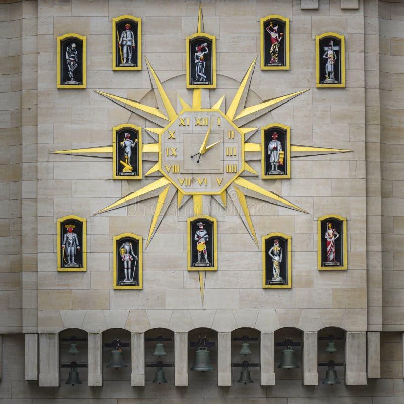 时钟在布鲁塞尔 免版税库存照片