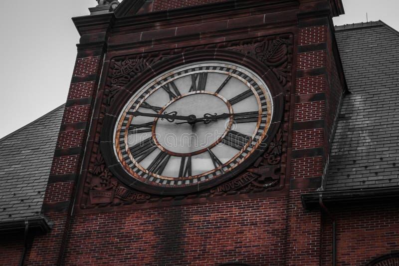 时钟在自由公园,泽西市 免版税图库摄影