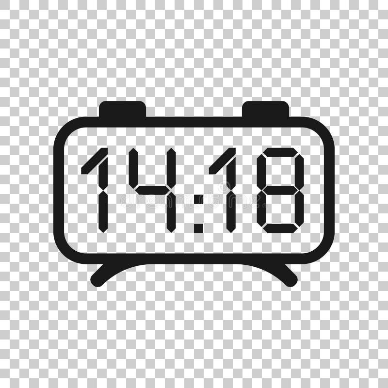 时钟在透明样式的标志象 时间管理在被隔绝的背景的传染媒介例证 定时器企业概念 向量例证