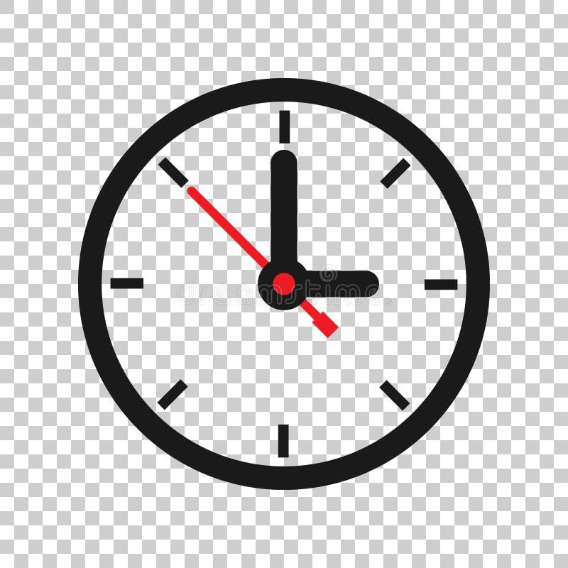 时钟在透明样式的标志象 时间管理在被隔绝的背景的传染媒介例证 定时器企业概念 皇族释放例证