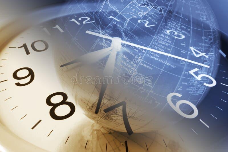 时钟地球 免版税库存照片